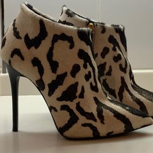 Natural pony ankle boots